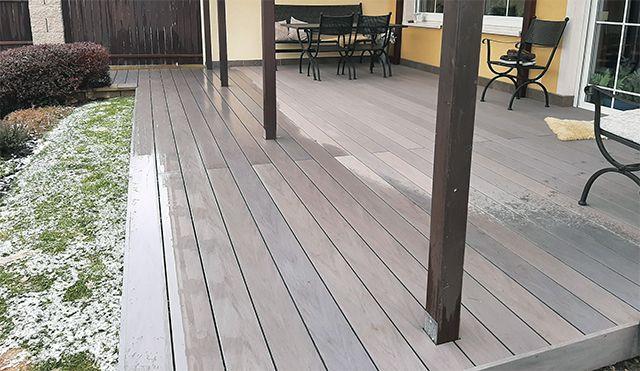 WPC terasa BambooGard Bi COLOR světle šedá